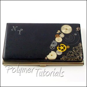 Tutorial Personalised Business Card Case In Steampunk Style Polymer