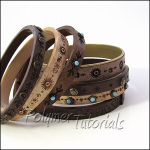 Image For Polymer Clay Tutorial Faux Leather Bracelets