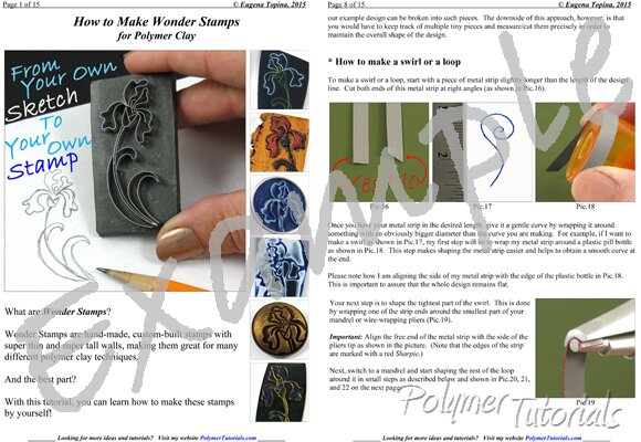 Image for Example Pages from tutorial Wonder Stamps for Polymer Clay