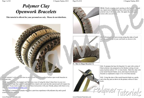 Image for Example Pages from Openwork Bracelets Polymer Clay Tutorial
