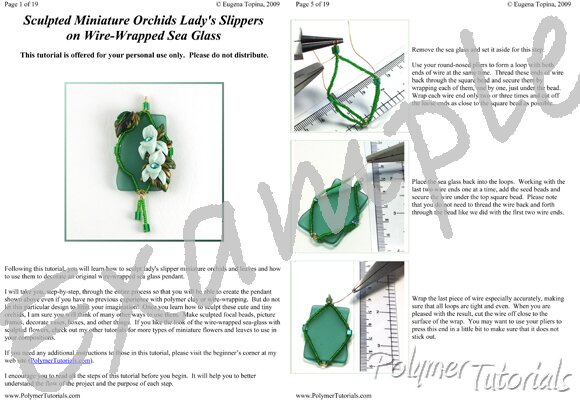 Image for Example Pages from Miniature Sculpted Orchids Polymer Clay Tutorial