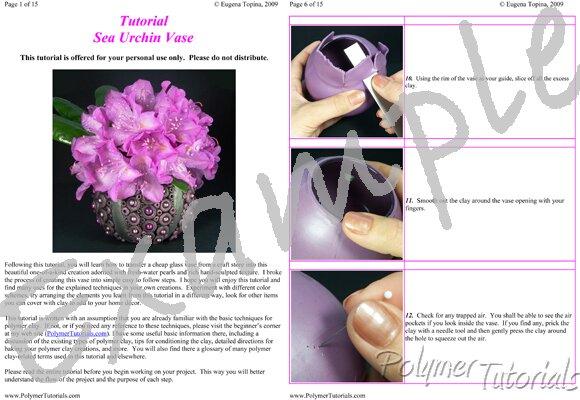 Image for Example Pages from Sea Urchin Vase Polymer Clay Tutoriall