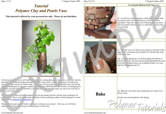 Image for Example Pages from Polymer Clay and Pearls Vase Tutorial