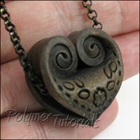 Polymer Clay Folded Heart Tutorial