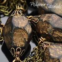 Image for polymer clay with Rub-n-Buff, tutorial