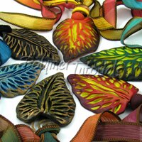 Polymer Clay Faux Carved Leaves Tutorial