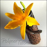 Scrap Polymer Clay Vase Tutorial