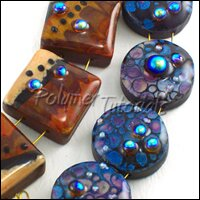 How to achieve faux lampwork look with polymer clay
