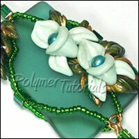 How to combine polymer clay with sea glass