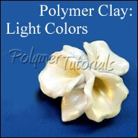 Image for tutorial how to work with white polymer clay